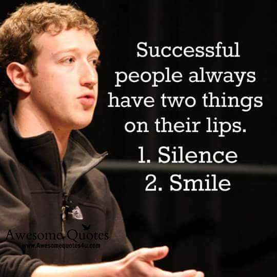 ap education & career guidance - Successful people always have two things on their lips . 1 . Silence 2 . Smile Awesome Quotes www . Awesomequotes4u . com - ShareChat