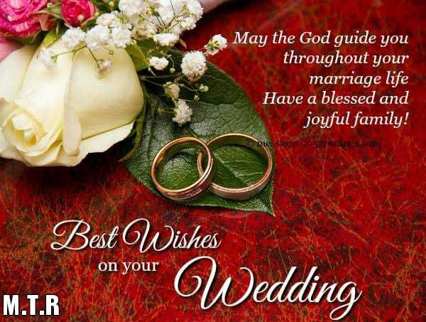 🇮🇳MTR😍மனித இந்திய தமிழன்🇮🇳 - May the God guide you throughout your marriage life Have a blessed and joyful family ! messages 305 greemom Best Wishes on your on your W edding M . T . R - ShareChat
