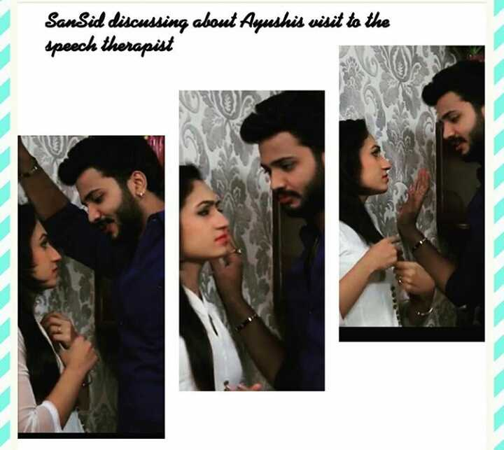 love birds dimple stars - SanSid discussing about Ayushis visit to the speech therapist - ShareChat