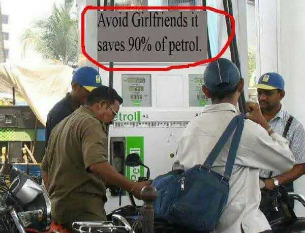 उड़ता फ्यूल गिरता रुपया - Avoid Girlfriends it saves 90 % of petrol . etroll A2 KUPUSTEET - ShareChat