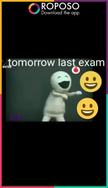 exam comedy - ROPOSO Download the app tomorrow last exam ROPOSO Download the app tomorrow last exam - ShareChat