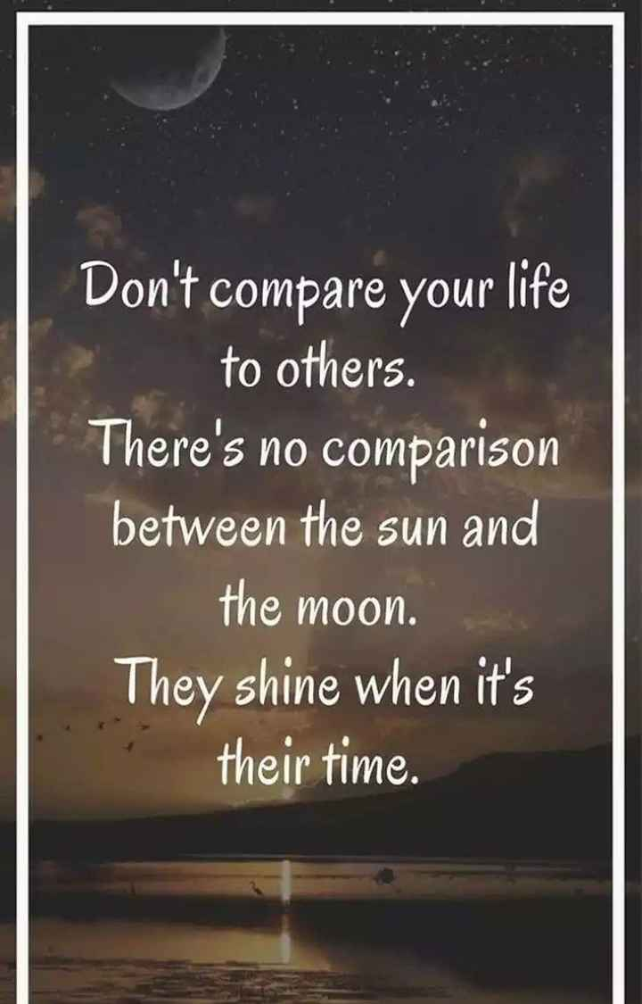 my attitude.. - Don ' t compare your life to others . There ' s no comparison between the sun and the moon . They shine when it ' s their time . - ShareChat