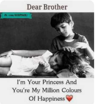 Brother& sister  Relation - Dear Brother t . co / 33TXE I ' m Your Princess And You ' re My Million Colours Of Happiness - ShareChat