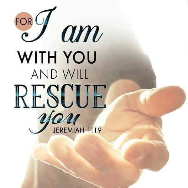 lovely god - FORT am WITH YOU AND WILL RESCUE You JEREMIAH 1 : 19 - ShareChat