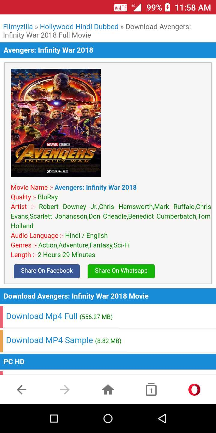infinity war full movie download in hindi dubbed filmyzilla