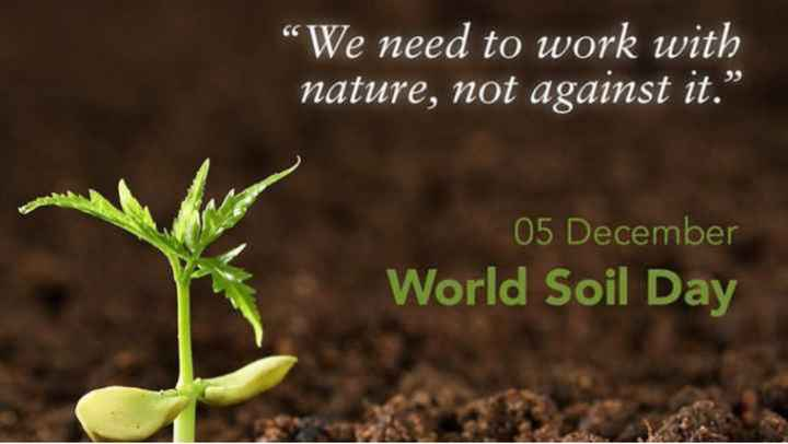 """World Soil Day - We need to work with nature , not against it . """" 05 December World Soil Day World sol - ShareChat"""