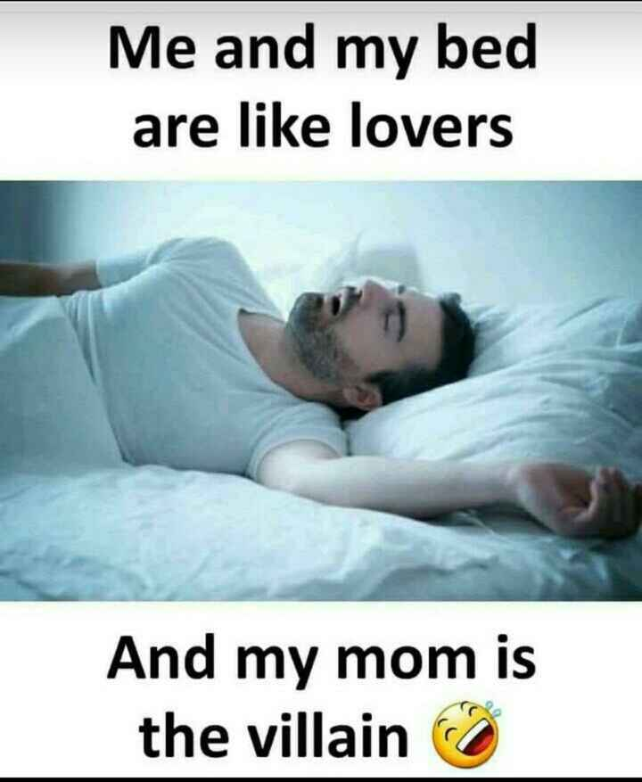 my life 💝 - Me and my bed are like lovers And my mom is the villain - ShareChat