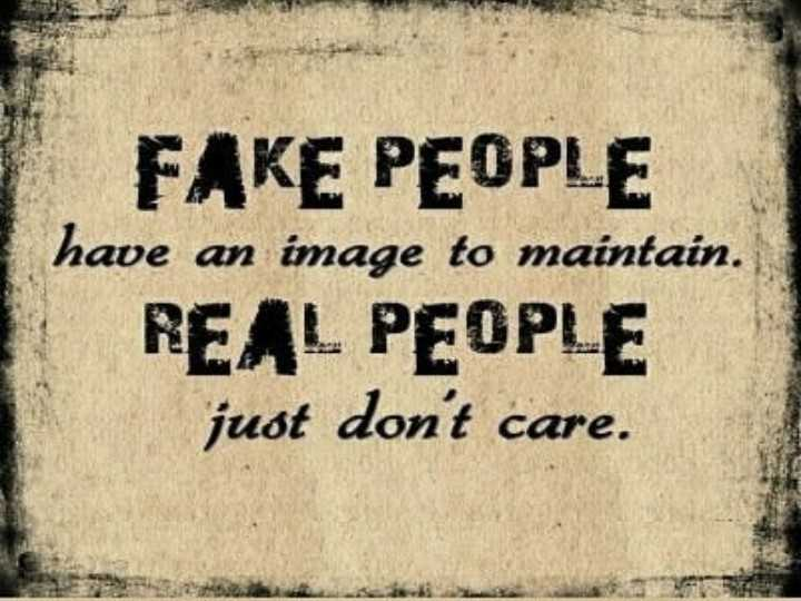 happy sunday guys🙋🙋 - FAKE PEOPLE have an image to maintain . REAL PEOPLE just don ' t care . - ShareChat
