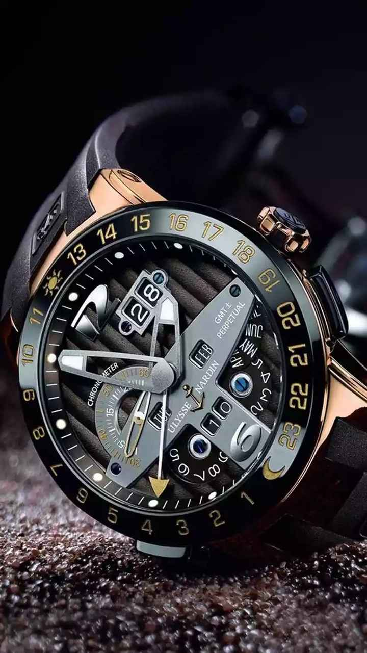 watch - 8 9 10 TOIII 1170 3 CHRONO Mag 14 30 115111 HRONO METER R 15 28 7 voor ( FEB ULYSSE / NARDIN 16 17 18 GMTŁ CME PERPETUAL Un 21 20 19 S 23 22 - ShareChat