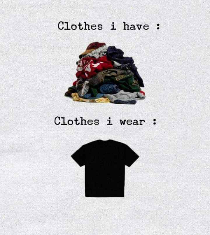 😊 - Clothes i have : Clothes i wear : - ShareChat
