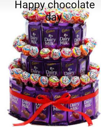 🍫 9 Feb - Chocolate Day - Happy chocolate day Dairy Milk Dairy Milk Dair Dairy Dairy Milk Milk - ShareChat