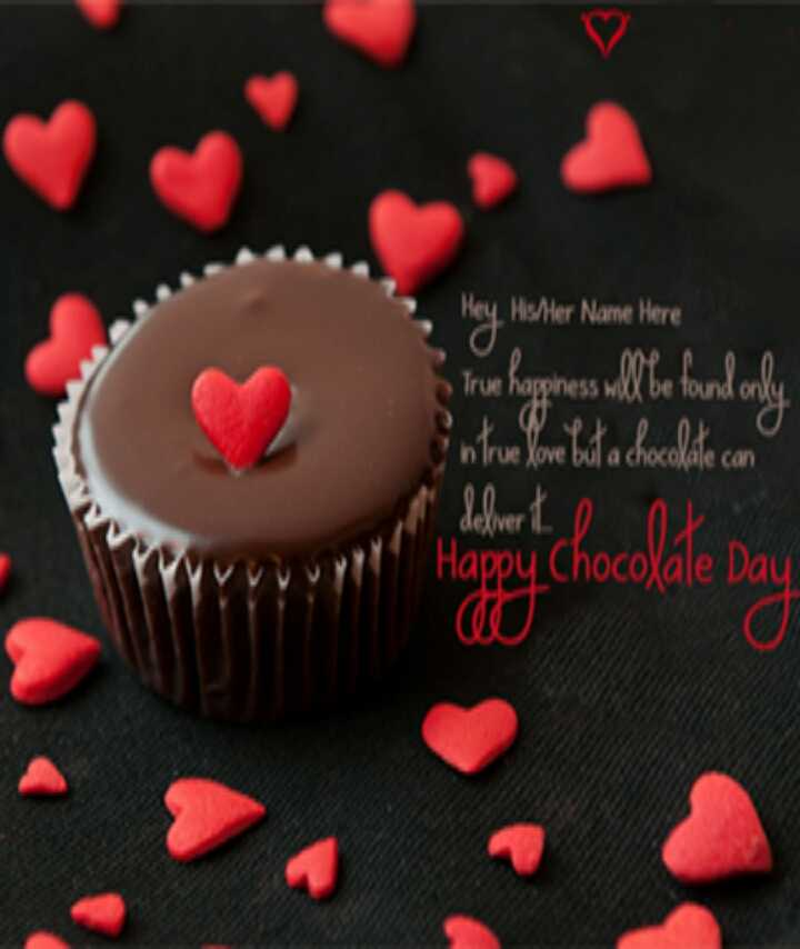 🍫 9 Feb - Chocolate Day - Hey . Hister Name Here True Baghes Mte thankot into on latachocolate . com dolwert . It Day Happy ChocoXale Day - ShareChat
