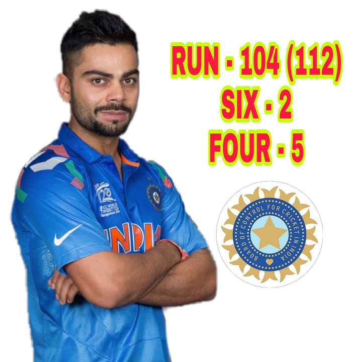 🏏AUS vs IND 2nd ODI - RUN - 104 ( 112 ) SIX - 2 FOUR - 5 AL FORC ANTROL CRICKA OF C LETIN IN . BOARD INDIA . . . . . - ShareChat