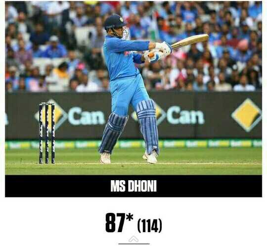 AUS vs IND 3rd ODI - I Can Can MS DHONI 87 * ( 114 ) - ShareChat