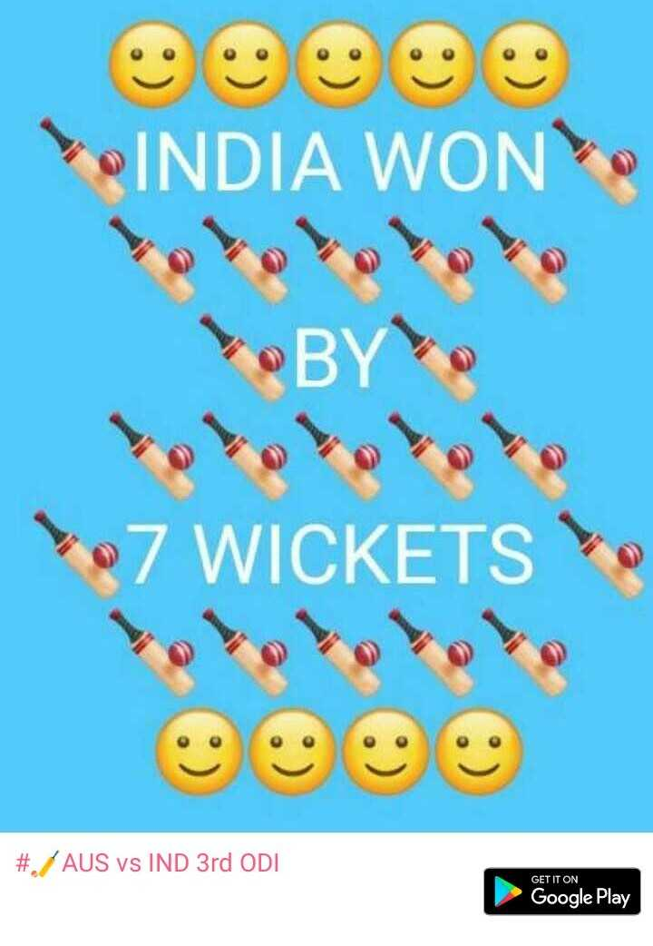 🏏AUS vs IND 3rd ODI - INDIA WON BY : 7 WICKETS ololololo # AUS vs IND 3rd ODI GET IT ON Google Play - ShareChat