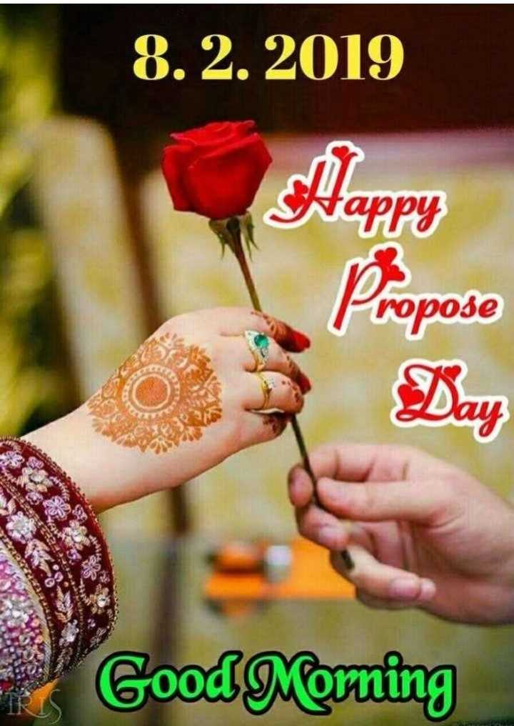 GIFS - 8 . 2 . 2019 Nappy Propose Good Morning - ShareChat