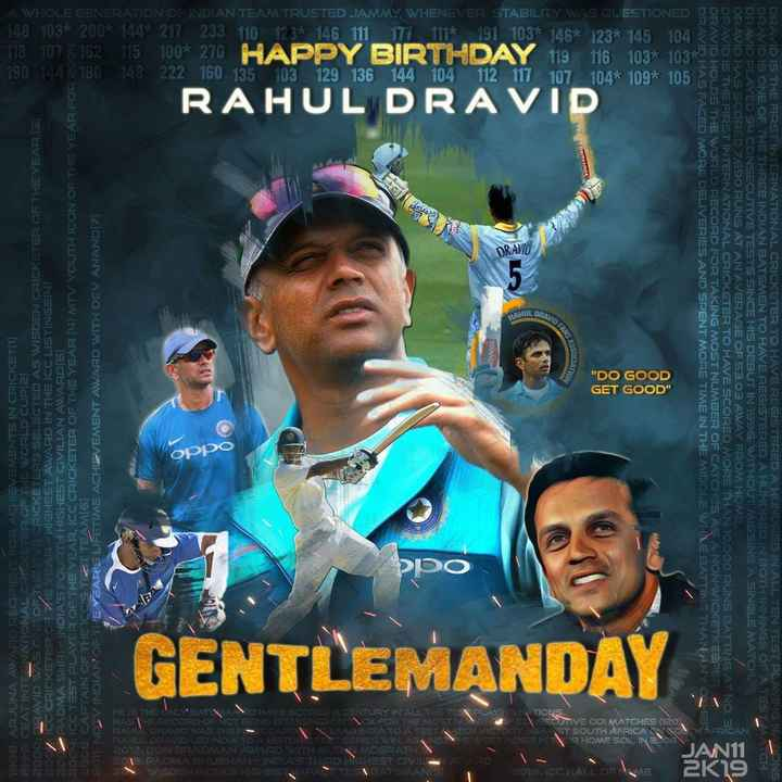 HBD ராகுல் டிராவிட் - A WHOLE GENERATION OF INDIAN TEAM TRUSTED JAMMY , WHENEVER STABILITY WAS QUESTIONED 148 103 * 200 * 144 * 217 233 110 123 * 146 111 177 111 * 191 103 * 146 * 123 % 145 104 118 1078 . 162 . 15 100 * 270 HAPPY BIRTHDAY 119 116 1032 103 790 100 80 148 222 160 135 103 129 136 144 104 112 117 107 104 % 109 % 105 RAHUL DRAVID DRAVID AHUL DRAL VINNER SOCIATION DO GOOD GET GOOD 1985 ARJUNA AWARD RECIPIENT FOR ACHIEVEMENTS IN CRICKET 11 1999 ; CEAT INTERNATIONAL CRKETER OF THE WORLD CUP2 2000 : DRAVID WAS ONE OF THE FIVE CRICKETERS SELECTED AS WISDEN CRICKETER OF THE YEAR . ( 3 ) 200CC CRICKETER OF VE YEAR HIGHEST AWARD IN THE CC LISTINGS BOZPADMA SHRI INDIA ' S FOURTH HIGHEST CIVILIAN AWARDS 2004 : CC TEST PLAYER OF THE YEAR , ICC CRICKETER OF THE YEAR ( 4 ) MTV YOUTH ICON OF THE YEAR FOR A BONEND - V INDIAN OF THE YEAR ' S LIFETIME ACHIEVEMENT AWARD WITH DEV ANANDIZI 200S : CAPTAIN OF THE ICOSTRET TEAM6 ) DRAVID HAS FACED MORE DELIVERIES AND SPENT MORE TIME IN THE MIDDLE WHILE BATTINGTHAN ANY DRAVID HOLDS THE WORLD RECORD FOR TAKING MOST NUMBER OF CATCHES AS ANON WICKETI SEPER DIRAVID IS THE FIRST INTERNATIONAL CRICKETER TO HAVE SCORED MORE THAN TOOOO RUNS BATTING AT NO . 3 DRAVID HAS SCORED 7 , 690 RUNS AT AN AVERAGE OF 53 . 03 AWAY FROM HOME DRAVID PLAYED SU CONSECUTIVE TESTS SINCE HIS DEBUT IN 1996 , WITHOUT MISSING A SINGLE MATCH DRAVID IS ONE OF THE THREE INDIAN BATSMEN TO HAVE REGISTERED A HUNDRED IN BOTH INNINGS OF A TEST MA DRAVID IS THE FIRST INTERNATIONAL CRICKETER TO HAVE REGISTERED A HUNDRED IN ALL TEN TEST PLAYINGNONS 2 oppo GENTLEMANDAY 7 HE IS THE BESTATE ANOHAVE SCOPEDA CENTURY IN ALL ME TE PLAYING MOTIONS , HASIE PECOROLOC NOTREEING DISMISSED ONCEDE THE MOST NUN BETOFOSECUTIVE ODI MATCHES 120 ) RALD DRAVID WAS THER A PA LEADINDLATO ATESTITCH VICTORINOAINST SOUTH AFRICANNOT AFRICAN PARUL DRAVID LED INDIA TOISTURTEST SERIES WIN AGAINSTRUE N DESINEIR HOME SOLINBO05 2012 : DON BRADMAN AWARD WITH GLEMCGRATHI 2014 PADMA BHUSMAN - INDIAS THI