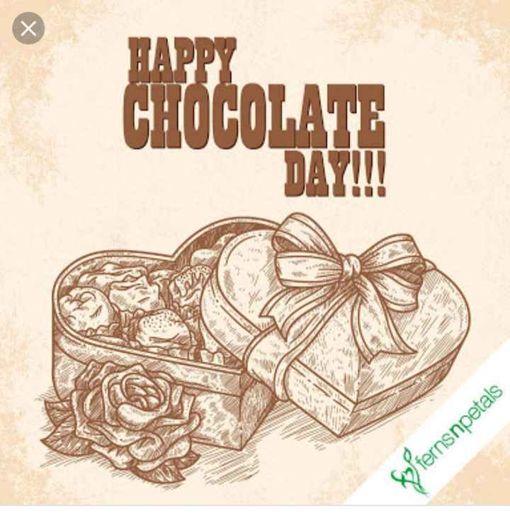 🍫 Happy chocolate day - HAPPY CHOCOLATE Sofernsnpetals - ShareChat