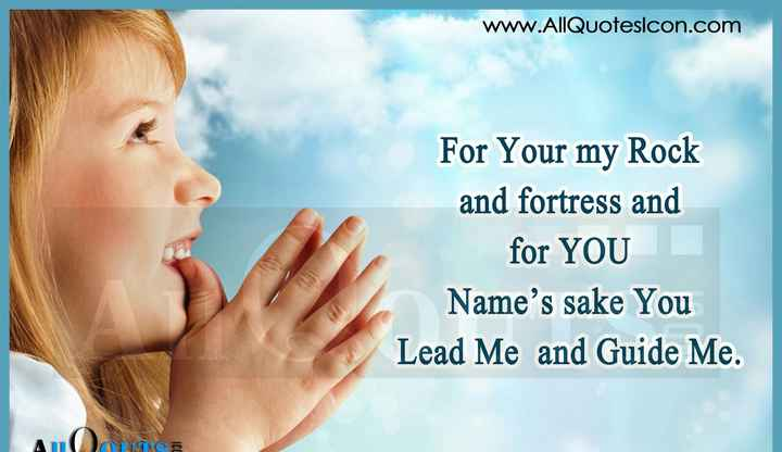 ⛪ Holy Jesus - www . AllQuotesicon . com S For Your my Rock and fortress and for YOU Name ' s sake You Lead Me and Guide Me . ICC - ShareChat