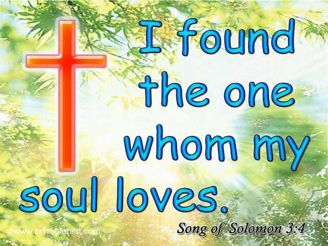 ⛪ Holy Jesus - I found the one whom my soul loves ©www . printsotchrist . com S : Song of Solomon 3 : 4 - ShareChat