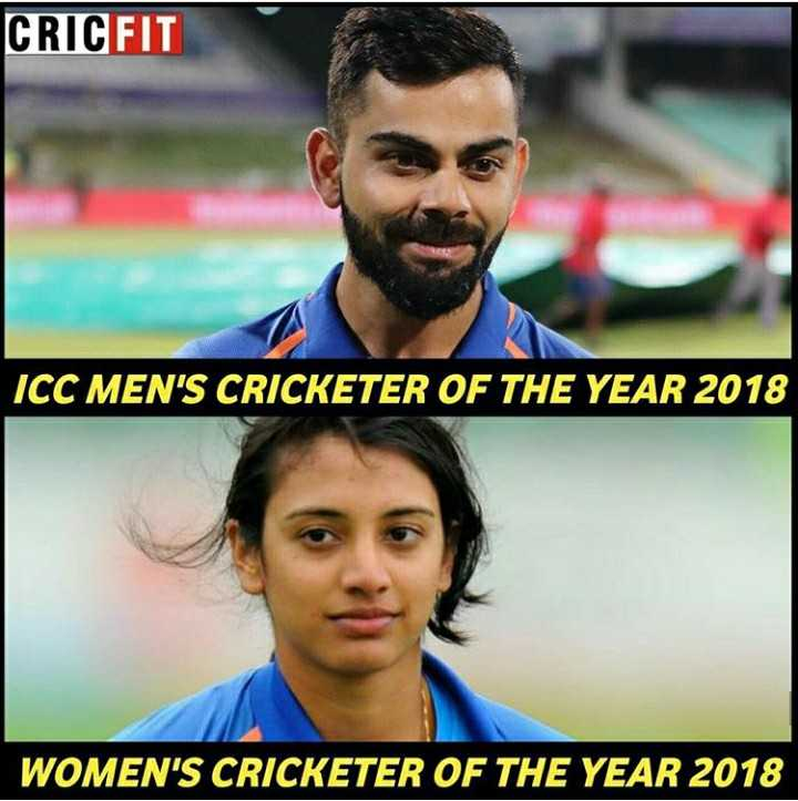 ICC ಅವಾರ್ಡ್ಸ್ - CRICFIT ICC MEN ' S CRICKETER OF THE YEAR 2018 WOMEN ' S CRICKETER OF THE YEAR 2018 - ShareChat