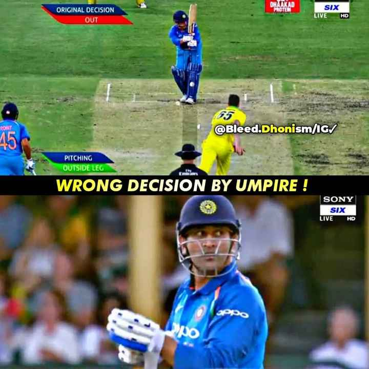 🏏Ind vs Aus 1st ODI - 10 ORIGINAL DECISION OUT SIX LIVE HD ROHIT @ Bleed . Dhonism / IG / PITCHING OUTSIDE LEG WRONG DECISION BY UMPIRE ! SONY SIX LIVE HD - ShareChat
