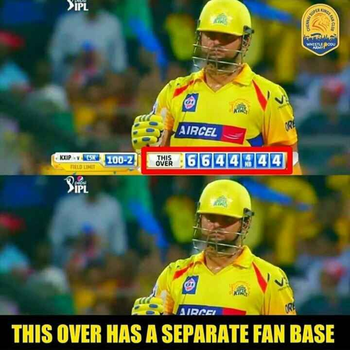 KXIP vs CSK - > IPL CHENNO COD TO wwisu popu AIRCEL AIRCEL cena 6644344 KXIP v CSK FIELD LIMIT 100 - 2 poput > IPL AIRCEI THIS OVER HAS A SEPARATE FAN BASE - ShareChat