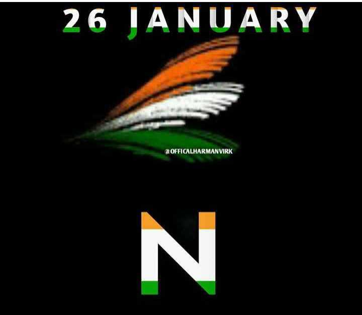 🎨 Republic Day Name Art - 26 JANUARY a OFFICALHARMANVIRK - ShareChat