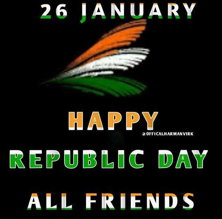 🎨 Republic Day Name Art - 26 JANUARY a OFFICALHARMAN VIRK HAPPY REPUBLIC DAY ALL FRIENDS - ShareChat