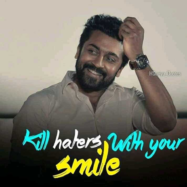 😍 SURYA FANS - aSuriya Quotes k ) halers , with your smile - ShareChat