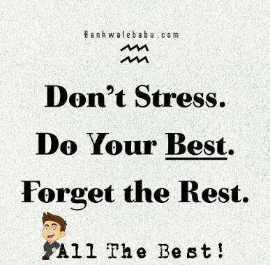 ShareChat Stickers - Bank wale babu . com mm Don ' t Stress . Do Your Best . Forget the Rest . All The Best ! - ShareChat