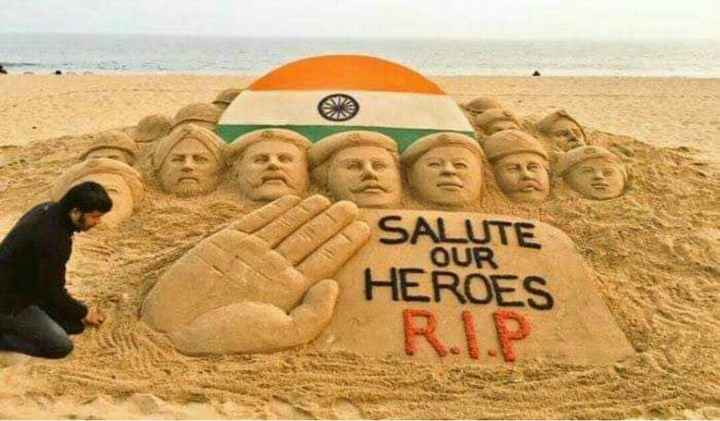 So Sad 😭 - OUR SALUTE HEROES R . I . P - ShareChat