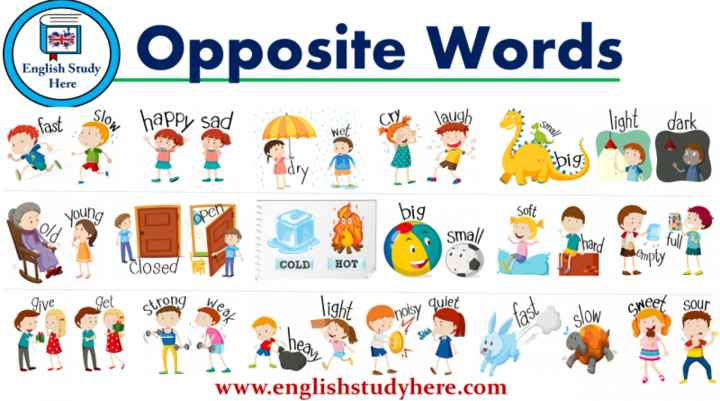 📒 Spoken English - QOpposite Words English Study Here laugh fast dark open big Soft small hard full wapty Closed COLD HOT Give get strong wiet light weer sour neay www . englishstudyhere . com - ShareChat