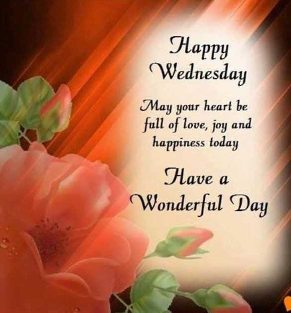 Wednesday Wisdom - Happy Wednesday May your heart be full of love , joy and happiness today Have a Wonderful Day  - ShareChat