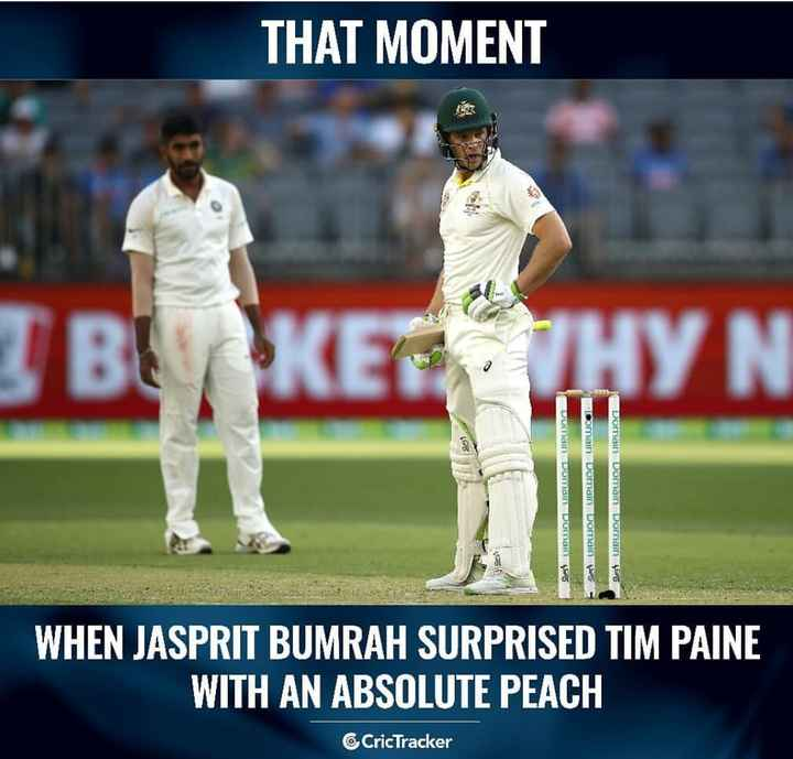 🏏Aus vs Ind 2⃣ Day - THAT MOMENT В КЕТНУН Domain Dorttain Burtain Domain Domain Domain Domain womain Domain 95 o WHEN JASPRIT BUMRAH SURPRISED TIM PAINE WITH AN ABSOLUTE PEACH CricTracker - ShareChat