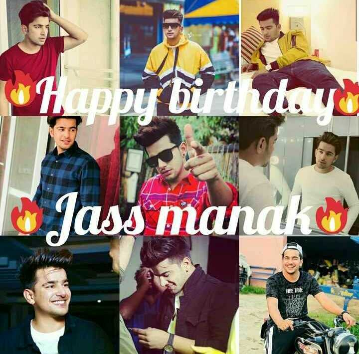 🎊🎂happy birthday 🎂🎊😍jass manak😍 - Happy birthday - Jass mandko . OF THE - ShareChat