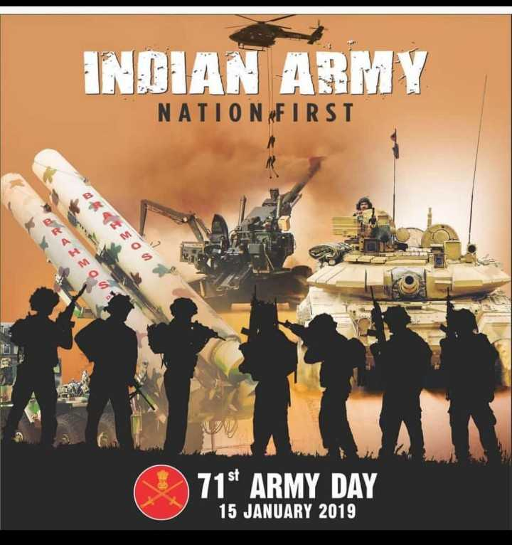 army lover - INDIAN ARMY NATION FIRST SEO IE00 715 ARMY DAY 15 JANUARY 2019 - ShareChat