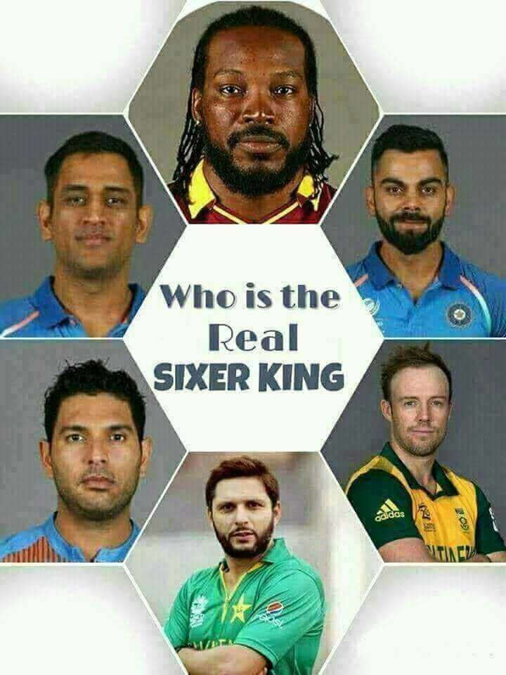 cricketrs - Who is the Real SIXER KING - ShareChat