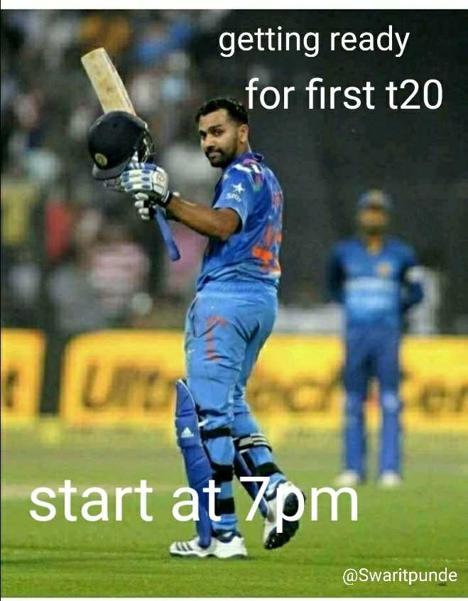 IND vs WI 1st T20 - getting ready for first t20 start @ Swaritpunde - ShareChat