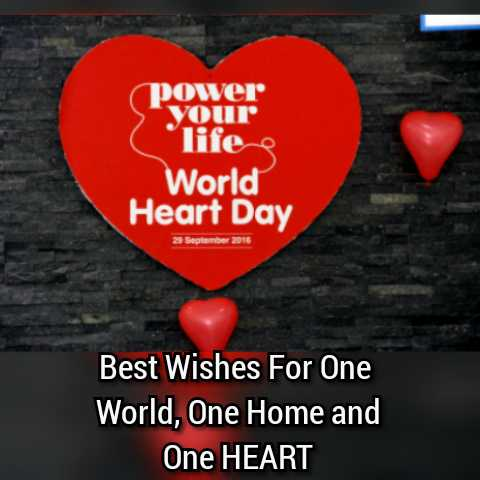 ବିଶ୍ୱ ହୃଦୟ ଦିବସ - ( power your lifes World Heart Day 29 September 2016 Best Wishes For One World , One Home and One HEART  - ShareChat