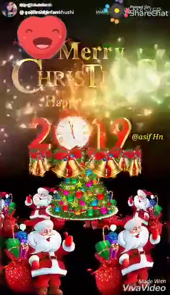 Merry Christmas - PREDPRD @ gpiterzsafarrkhushi NiShareekat Posted On : Shared bat CIRCLAAS Happeveer @ asif Hn Made With VivaVideo Posted On : ShareChat shareMerry CHRISTMAS 2012 oct and Happy new year @ asif Hn Made with VivaVideo - ShareChat