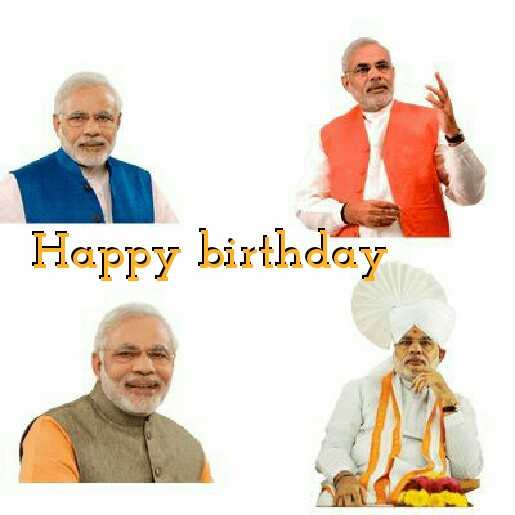 Happy birthday Narendra Modi - ShareChat