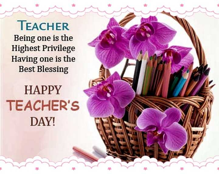 happy teacher day - TEACHER Being one is the Highest Privilege Having one is the Best Blessing HAPPY TEACHER ' S DAY ! - ShareChat