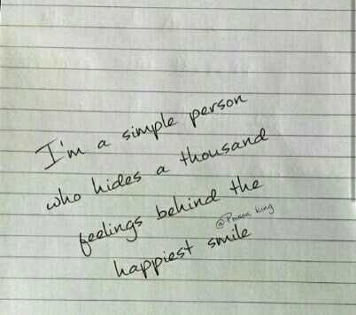 believe in yourself - I ' m a simple person who hides a thousand Posen King feelings behind the happiest smile - ShareChat