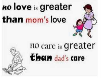i love my mom - no love is greater than mom ' s love no care is greater than dad ' s care - ShareChat