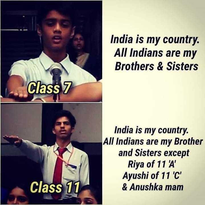 boys collection😎😍 - India is my country . All Indians are my Brothers & Sisters Class 7 India is my country . All Indians are my Brother and Sisters except Riya of 11 ' A ' Ayushi of 11 ' C ' & Anushka mam Class 11 - ShareChat