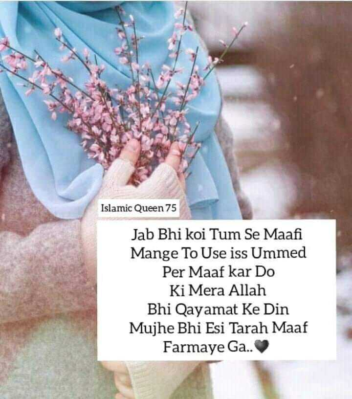 💔hurt touching this song💔 - Islamic Queen 75 Jab Bhi koi Tum Se Maafi Mange To Use iss Ummed Per Maaf kar Do Ki Mera Allah Bhi Qayamat Ke Din Mujhe Bhi Esi Tarah Maaf Farmaye Ga . . - ShareChat