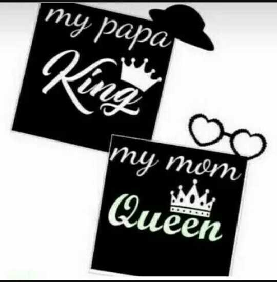 my mom & dad 💖 - my papa King my mom Queen - ShareChat