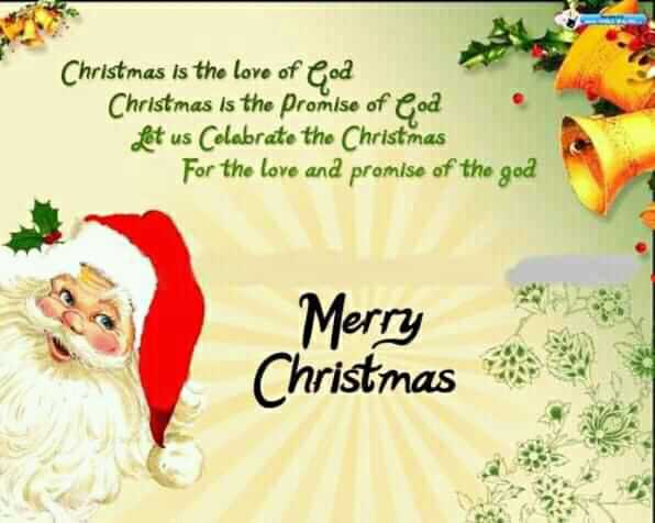 happy christmas🎅 - Christmas is the love of God Christmas is the promise of Cod • Let us Colabrate the Christmas For the love and promise of the god Merry Christmas - ShareChat
