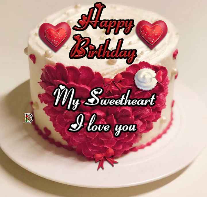 🎂 cake - My Sweetheart B . I love you - ShareChat
